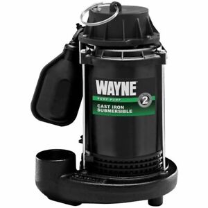 Wayne Cdt50 1 2 Hp Cast Iron Submersible Sump Pump W Tether Float Switch