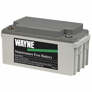 Wayne Wsb1275 Maintenance Free Agm Backup Sump Pump Battery 75 Amps
