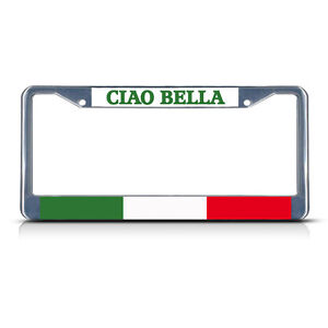 Ciao Bella Italy Italian Chrome Heavy Duty Metal License Plate Frame