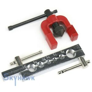 New 2 Pc Tubing Pipe Flaring Dies Tools Kit 3 16 5 8 Flare Tubing Air Brake Line