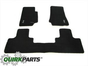 2007 2013 Jeep Wrangler 4 door Unlimited Dark Slate Floor Mats Mopar Genuine Oem