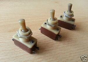 lot Of 5 Pcs Ussr Military Mini Toggle Switch Tv2 1 1a 220v Ac On off Nos