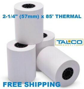 10 Verifone Omni 3200 2 1 4 X 85 Thermal Paper Rolls fast Free Shipping