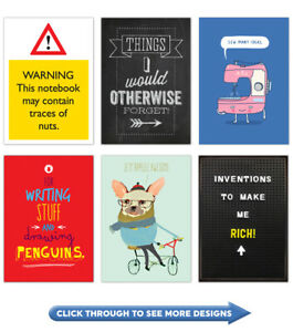 A5 Notepad Notebook Jotter Journal Funny Comedy Humour Joke Gift Present Sale