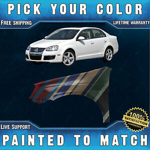 New Painted To Match Left Front Fender For 2005 2010 Volkswagen Jetta Type 5