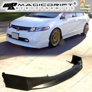 New Hfp Vip Front Bumper Lip Urethane Plastic For 06 08 Honda Civic 4dr Sedan