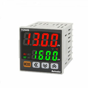 Pid Temperature Controller Tcn4s 24r Relay And Ssr Control 2 Alarm Output 48x48