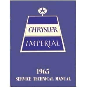 Factory Shop Service Manual For 1965 Chrysler Imperial
