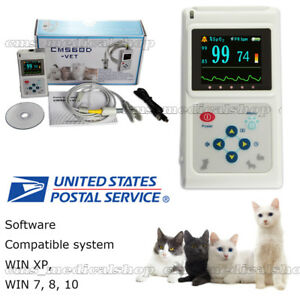 Veterinary Use Fingertip Pulse Oximeter Spo2 Blood Oxygen Monitor With Battery
