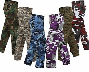 Military Type Tactical Camo Camouflage BDU Cargo Pants $37.99