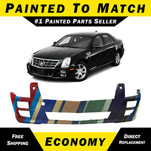 New Painted To Match Front Bumper Cover For 2008 2011 Cadillac Sts W Hl Washers