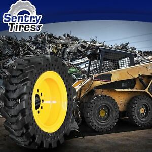 14x17 5 Solid Skid Steer Tires Set Of 4 With Wheels 14 17 5 For Case