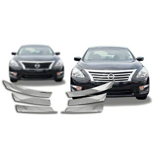 New Chrome Grille Overlay Compatible With 2013 2015 Nissan Altima 4 Dr Sedan