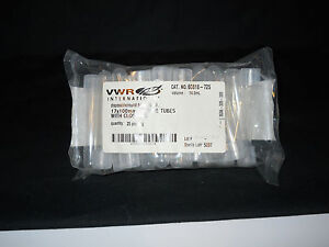 25 Vwr Sterile 14ml Disposable 17x100mm Round Bottom Culture Tubes