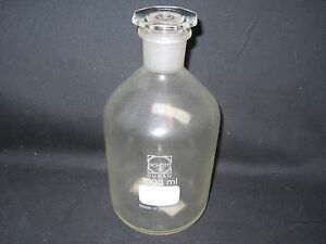 Schott Duran 1000ml 1l Plastic coated Glass Reagent Bottle With 29 32 Stopper
