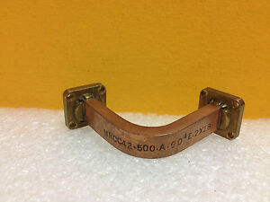 Microtech Mrcc42 500 a 90 wr 42 18 To 26 5 Ghz Cover Flange Waveguide E bend