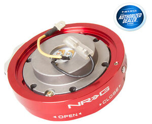 Nrg Steering Wheel Quick Release Thin Version Red Srk 400rd