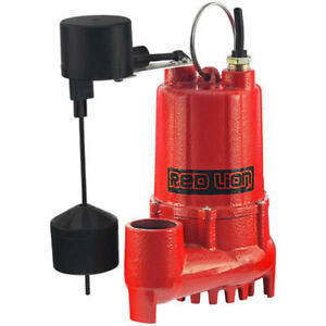 Red Lion Rl sc50v 1 2 Hp Cast Iron Submersible Sump Pump W Vertical Float