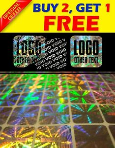 1053 Custom Printed Hologram Void Sticker Label Security Warranty Seal 0 6 x0 6