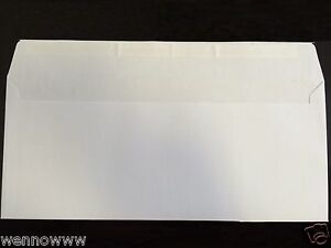 50 Peel Self seal White Letter Mailing Long Envelopes Shipping 4 1 8 x9 1 2