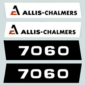 Ac7060 7060 Hood Decal Set Ac For Allis Chalmers Tractor