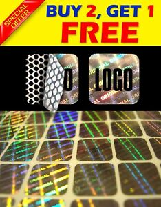980 Custom Print Hologram Warranty Security Sticker Label Void Seals 0 4 x0 4