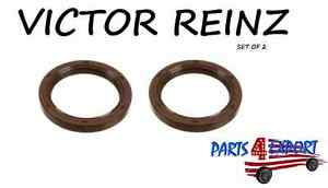 New Volvo Set Of 2 C70 S40 V50 Xc70 Front Crankshaft Seal Victor Reinz 6842273