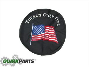 Jeep Wrangler Or Liberty Tire Cover American Flag Sm Mopar Genuine Oem Brand New