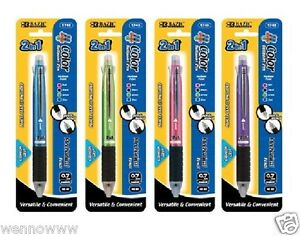 4 Packs Medium Point 2 In 1 Mechanical Pencil 4 Color Ballpoint Pen