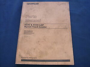 Caterpillar 933c 933c Lgp Hystat Track Loader Parts Book Manual S n 4ms 5js