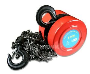 New 1ton Chain Hoist Puller Block Winch Steel Hardened Lift Capacity 2 000 Lbs
