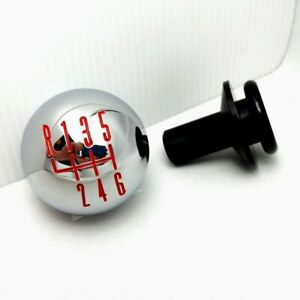 2011 14 Ford Mustang Chrome Billet 6 Speed Shift Knob W Retainer Red Pattern