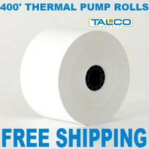 Gas Pump 2 9 32 X 400 Thermal Receipt Paper 12 New Rolls free Shipping