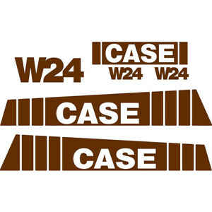 New Case Wheel Loader W24 Decal Set