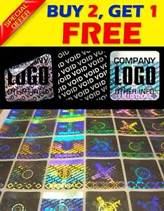392 Custom Printed Hologram Void Sticker Label Security Warranty Seals 0 8 x0 8