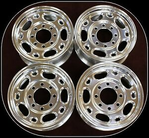 New Set 16 8 Lug Alloy Wheels Rims Fits 1988 2010 Chevy Silverado 2500 3500 Hd