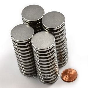 Grade N50 Disc Neodymium Magnets Dia 1x1 8 Rare Earth Magnets 50 counts