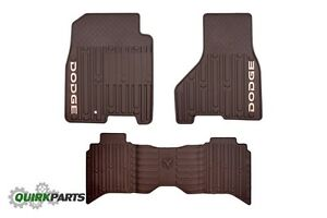 Dodge Ram Crew Mega Cab Front Rear Slush Mats Set Of 3 Oem New Mopar