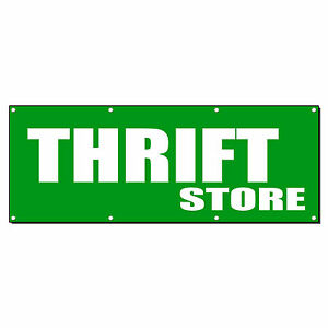 Thrift Store Promotion Business Sign Banner 3 X 6 W 6 Grommets