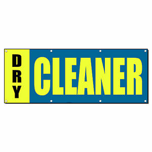 Dry Cleaner Promotion Business Sign Banner 4 X 8 W 8 Grommets