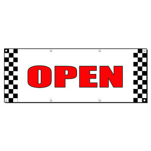 Open New Business Promotion Business Sign Banner 4 X 8 W 8 Grommets