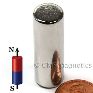 N42 Cylindrical Neodymium Magnets Dia 1 2x1 5 Rare Earth Magnets 20 Count