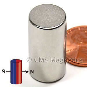 Diametrically Magnetized Neodymium Magnet N42 Dia 1 2x1 Ndfeb Rare Earth 20 cnt