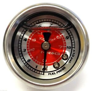 Nrg Fuel Pressure Gauge Liquid Filled 0 100 Psi 1 8 Npt Universal Gauge Only