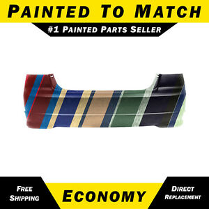 New Painted To Match Rear Bumper Cover For 2004 2005 Honda Civic Sedan Hybrid
