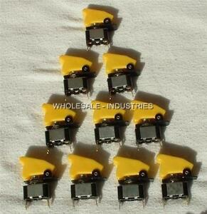 Lot Of 10 Apc Toggle Switch Yellow Universal Nos Aircraft Safety Cover Us Seller