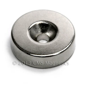 16 Pc Neodymium Magnets N42 7 8 x1 4 W 1 Countersunk Hole For 8 Screw