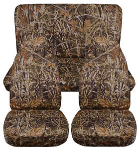 1987 1995 Jeep Wrangler Yj Seat Covers Wetlands Camo Front And Rear