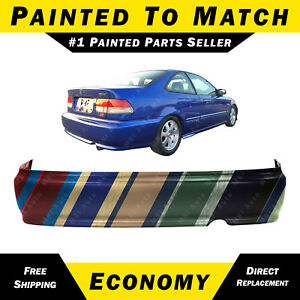 New Painted To Match Rear Bumper Cover For 1999 2000 Honda Civic Coupe Sedan