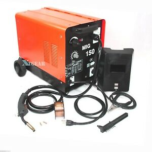 Commercial Dual Mig 150 110v 150amp Flux Core Wire Gas No Gas Welding Machine
